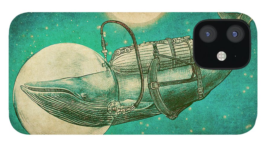 Whale IPhone 12 Case featuring the drawing The Journey by Eric Fan
