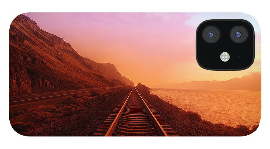 Columbia River IPhone 12 Case featuring the photograph The Long Walk To No Where by Jeff Swan