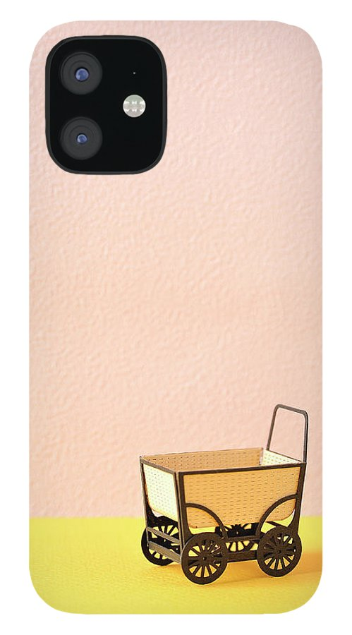 Baby Carriage iPhone 12 Case featuring the photograph The Model Of The Baby Carriage Made Of by Yagi Studio