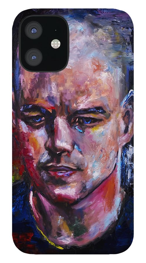 Portrait IPhone 12 Case featuring the painting The Moment by Mark Courage