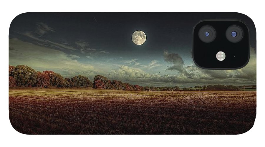 Tranquility IPhone 12 Case featuring the photograph The Moon by A Goncalves