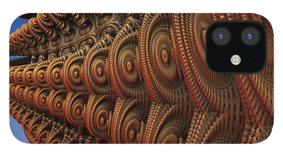 Fractal IPhone 12 Case featuring the digital art The Odd Beauty of Fractals by Lyle Hatch