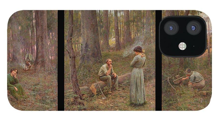 Frederick Mccubbin IPhone 12 Case featuring the painting The pioneer by Frederick McCubbin