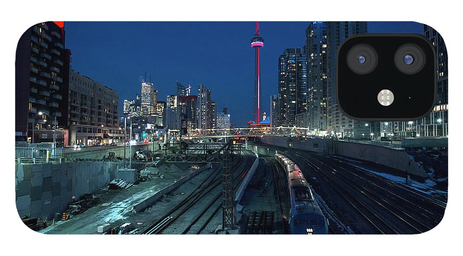 Train IPhone 12 Case featuring the photograph The Railway Lands Toronto by This Image