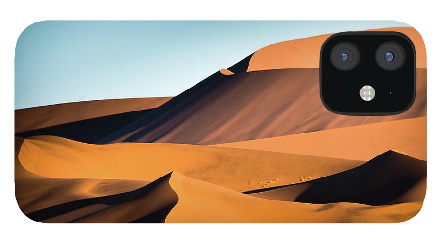 Sand Dune IPhone 12 Case featuring the photograph The Red Sand Dunes In Namibia by José Gieskes Fotografie