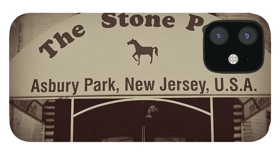 The Stone Pony Vintage Asbury Park New Jersey IPhone 12 Case featuring the photograph The Stone Pony Vintage Asbury Park New Jersey by Terry DeLuco