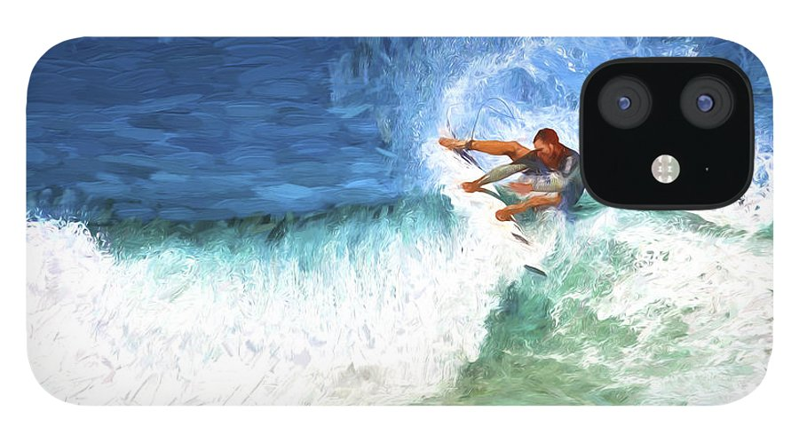 Surfer IPhone 12 Case featuring the photograph The surfer by Sheila Smart Fine Art Photography