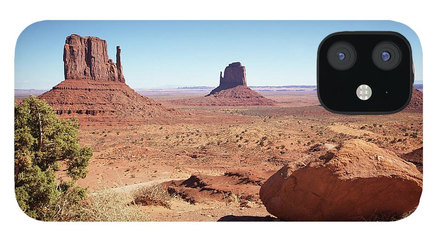Geology IPhone 12 Case featuring the photograph The Three Sisters At Monument Valley by Focus on nature