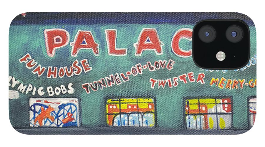 Tillie Of Asbury Park IPhone 12 Case featuring the painting The Tiny Tiny Palace by Patricia Arroyo
