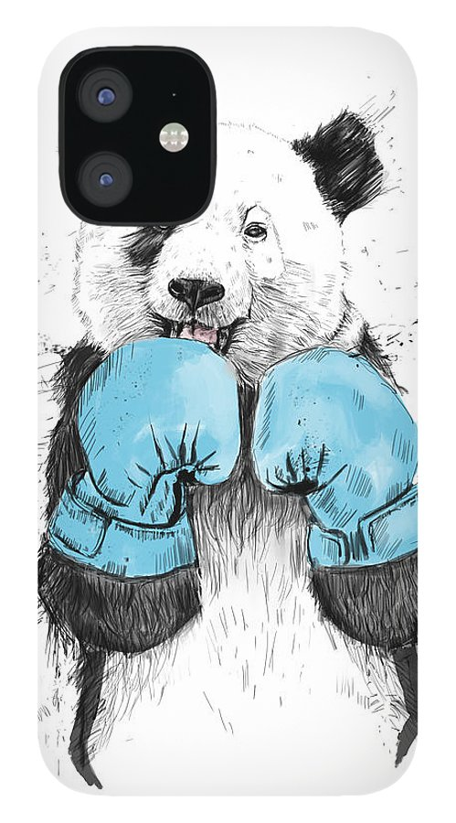 Panda IPhone 12 Case featuring the digital art The Winner by Balazs Solti