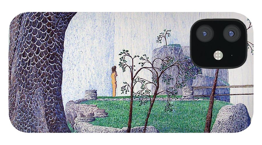 Landscape IPhone 12 Case featuring the painting The Yearning Tree by A Robert Malcom