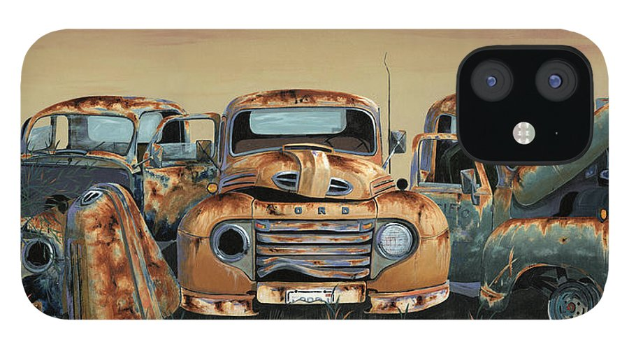 Truck IPhone 12 Case featuring the painting Three Amigos by John Wyckoff