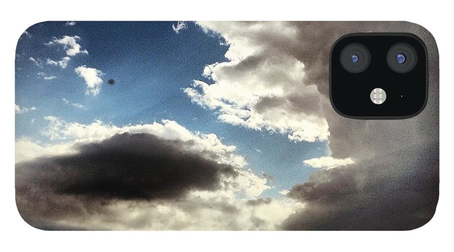 Landscape IPhone 12 Case featuring the photograph Thunder Clouds by Christy Beckwith