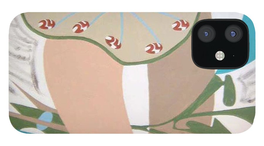 Abstract IPhone 12 Case featuring the painting Times up by Dean Stephens