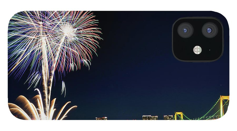 Firework Display IPhone 12 Case featuring the photograph Tokyo Fireworks by Vladimir Zakharov
