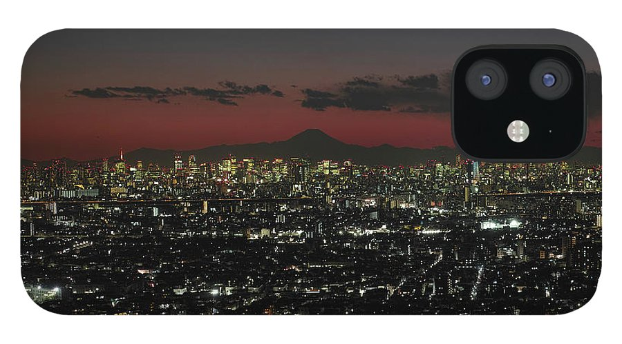Tokyo Tower iPhone 12 Case featuring the photograph Tokyo Skytree, Fuji, And Tokyo Tower by I Love Photo And Apple.