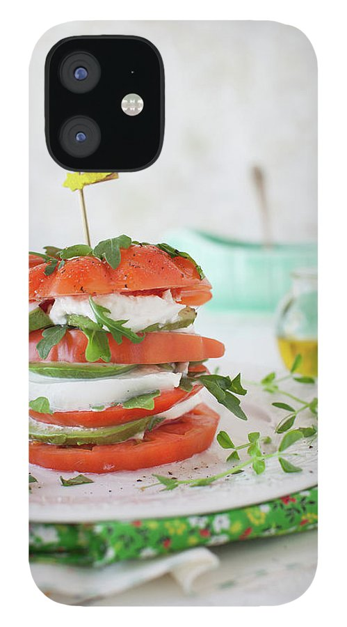 Newtown IPhone 12 Case featuring the photograph Tomato Salad by Yelena Strokin