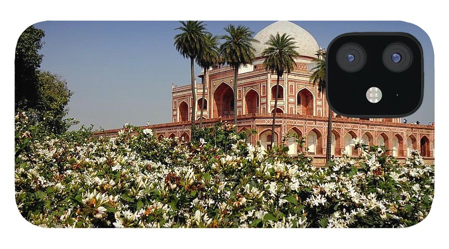 Tranquility IPhone 12 Case featuring the photograph Tomb Of Humayun by Smit Sandhir