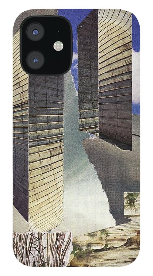 World Trade Center IPhone 12 Case featuring the mixed media Torn by Matthew Hoffman