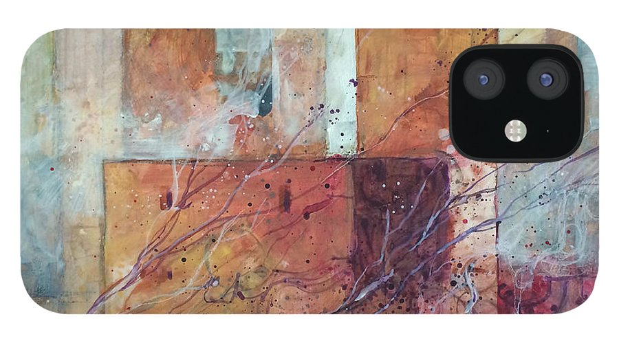 Towers IPhone 12 Case featuring the painting Torri antiche pietre e uva by Alessandro Andreuccetti