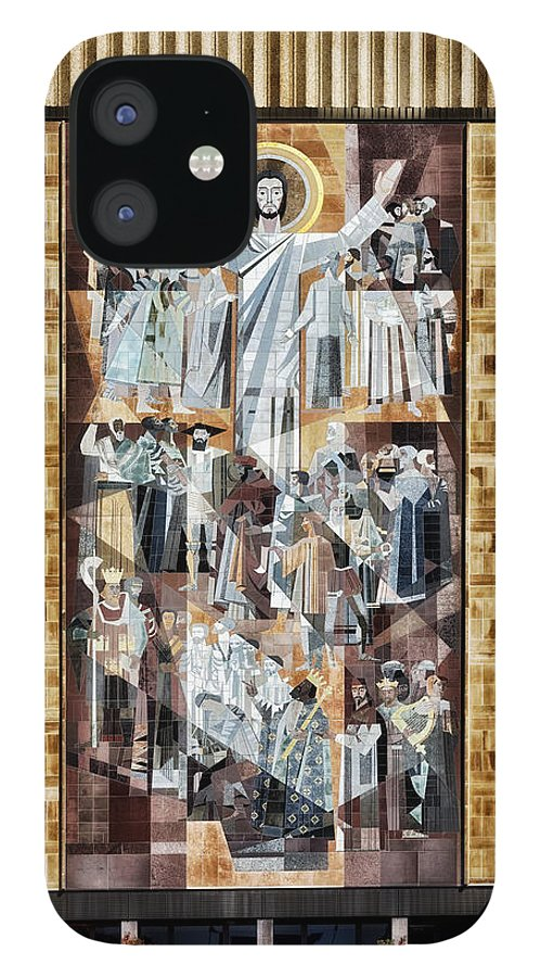 Jesus Christ IPhone 12 Case featuring the photograph Touchdown Jesus by Mountain Dreams