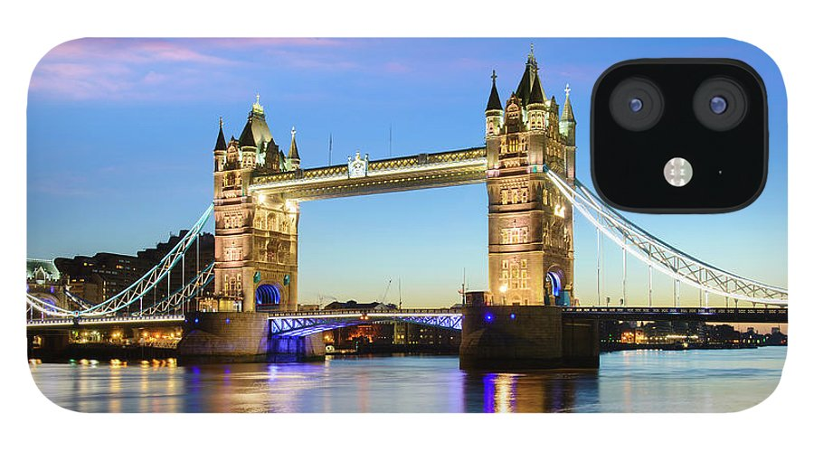 Downtown District IPhone 12 Case featuring the photograph Tower Bridge Located In London by Deejpilot