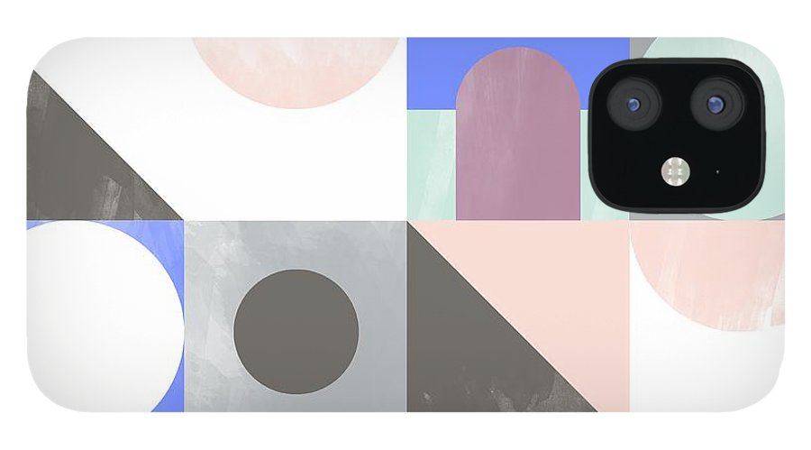 Pattern IPhone 12 Case featuring the painting Toy Blocks by Laurence Lavallee