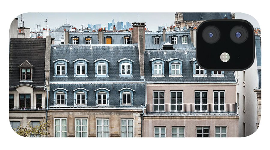 Built Structure IPhone 12 Case featuring the photograph Traditional Buildings In Paris by Mmac72