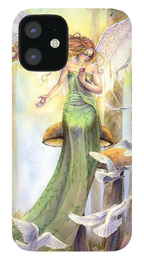 Angel IPhone 12 Case featuring the painting Translucence by Sara Burrier