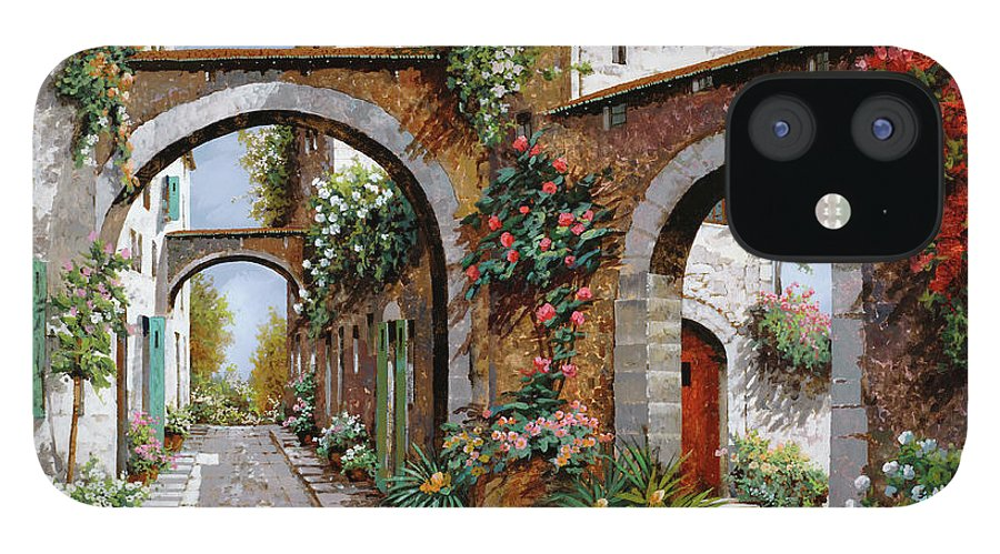 Arches iPhone 12 Case featuring the painting Tre Archi by Guido Borelli