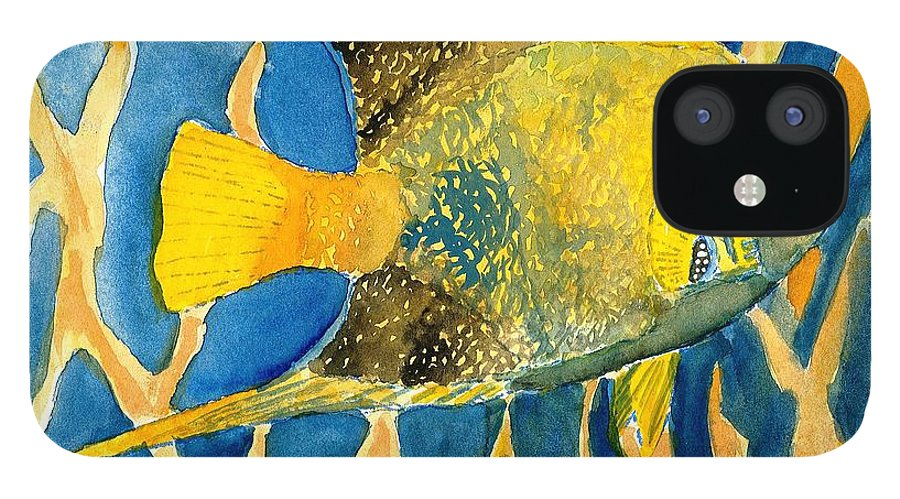 Tropical IPhone 12 Case featuring the painting Tropical Fish Art Print by Derek Mccrea