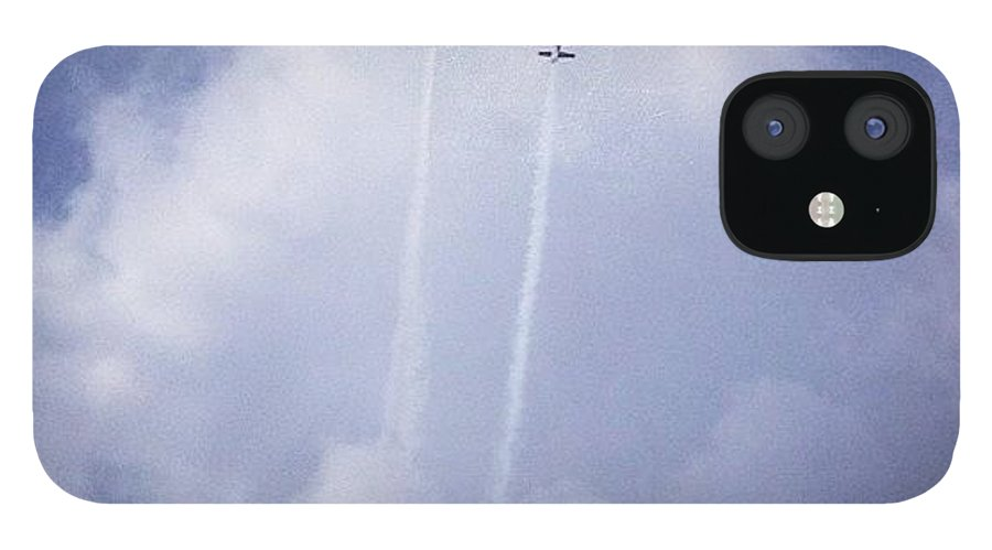 Wwii IPhone 12 Case featuring the photograph Two Airplanes Flying by Christy Beckwith