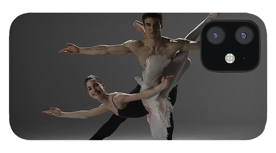Ballet Dancer IPhone 12 Case featuring the photograph Two Ballet Dancers Performing Pas De by Nisian Hughes