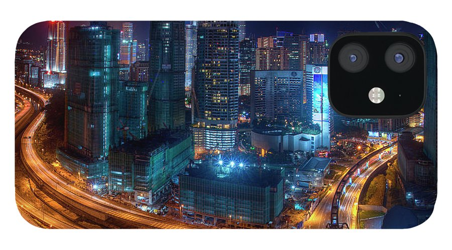 Outdoors iPhone 12 Case featuring the photograph Two Direction In Klcc by Rithauddin Photographer