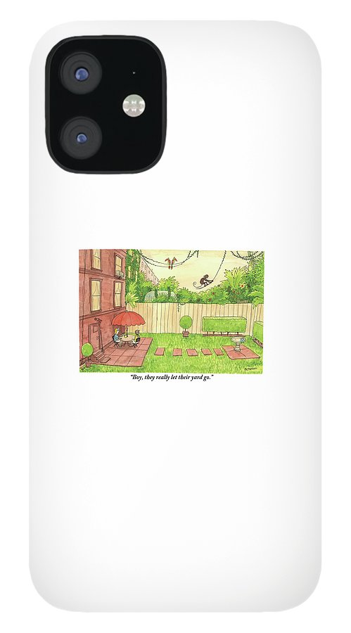 Two People Sitting On Their Back Patio IPhone 12 Case