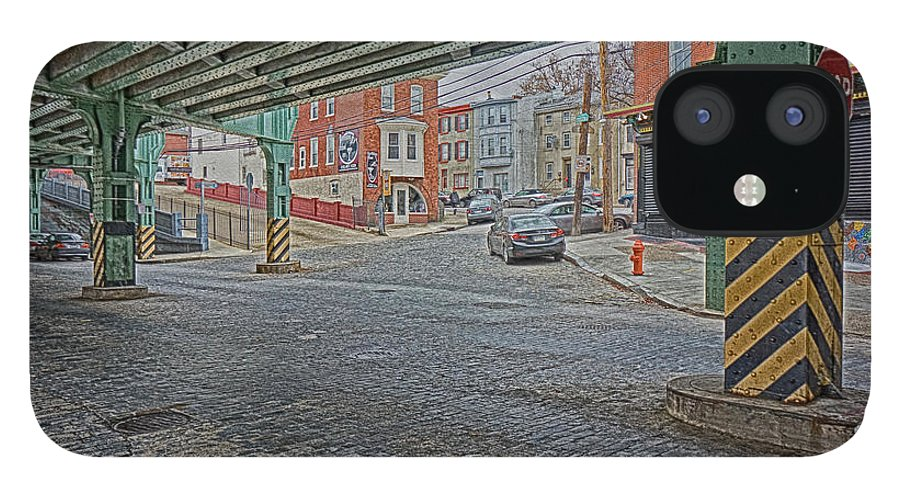 Manayunk IPhone 12 Case featuring the photograph Under The El Manayunk by Jack Paolini