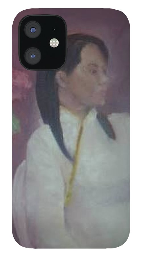 Woman IPhone 12 Case featuring the painting Untitled #2 by Sheila Mashaw