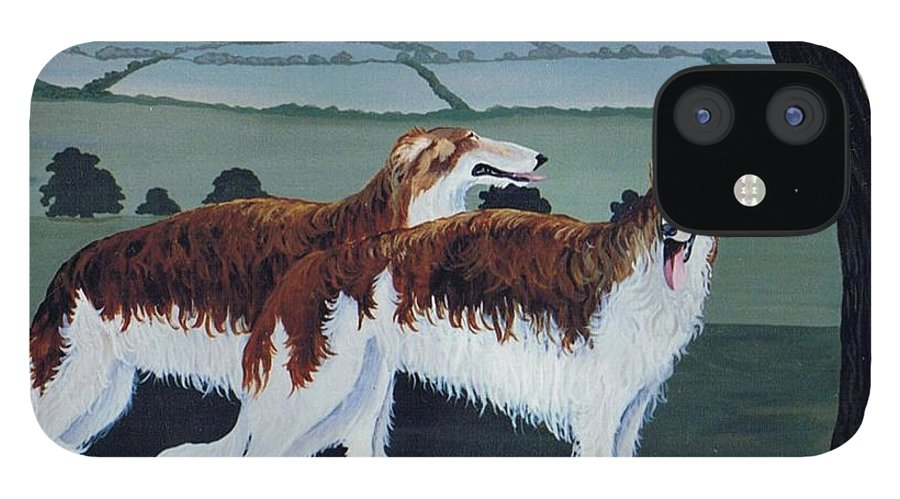 Borzoi IPhone 12 Case featuring the photograph Untitled by Maggie Rowe