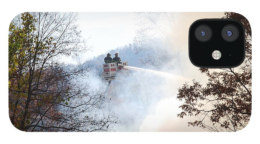 Fire IPhone 12 Case featuring the photograph Up In Smoke by Eric Liller