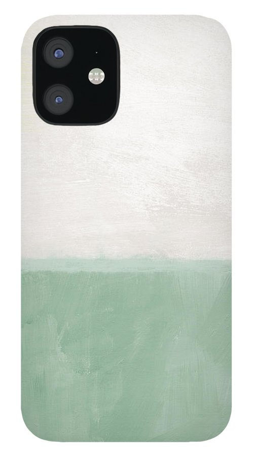 Abstract Landscape IPhone 12 Case featuring the painting Upon Our Sighs by Linda Woods