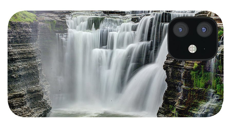 Letchworth State Park IPhone 12 Case featuring the photograph Upper Letchworth Falls by Tony Shi Photography