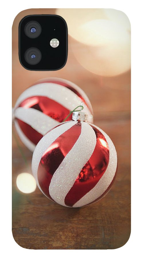 Christmas Ornament IPhone 12 Case featuring the photograph Usa, New Jersey, Jersey City, Christmas by Jamie Grill