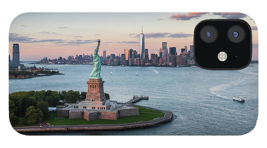Tourboat IPhone 12 Case featuring the photograph Usa, New York State, New York City by Tetra Images