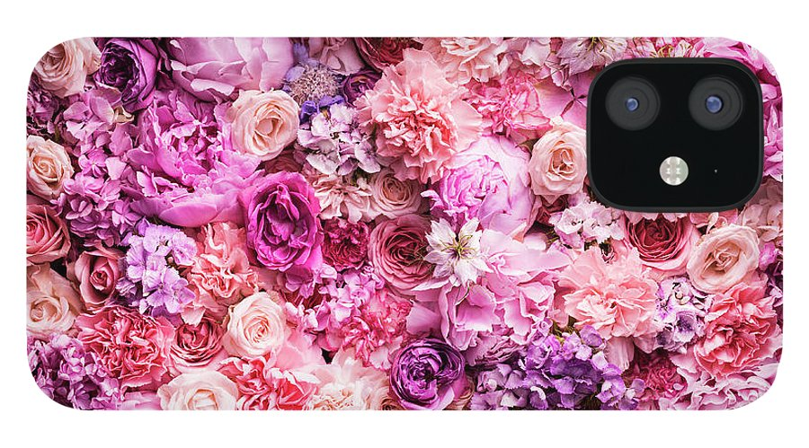 Tranquility IPhone 12 Case featuring the photograph Various Cut Flowers, Detail by Jonathan Knowles