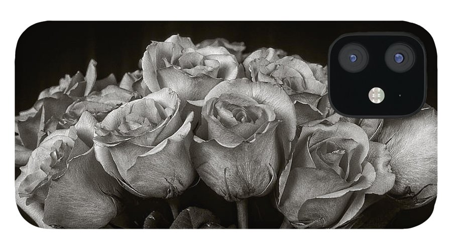 Rose IPhone 12 Case featuring the photograph Vase of Roses by Keith Gondron