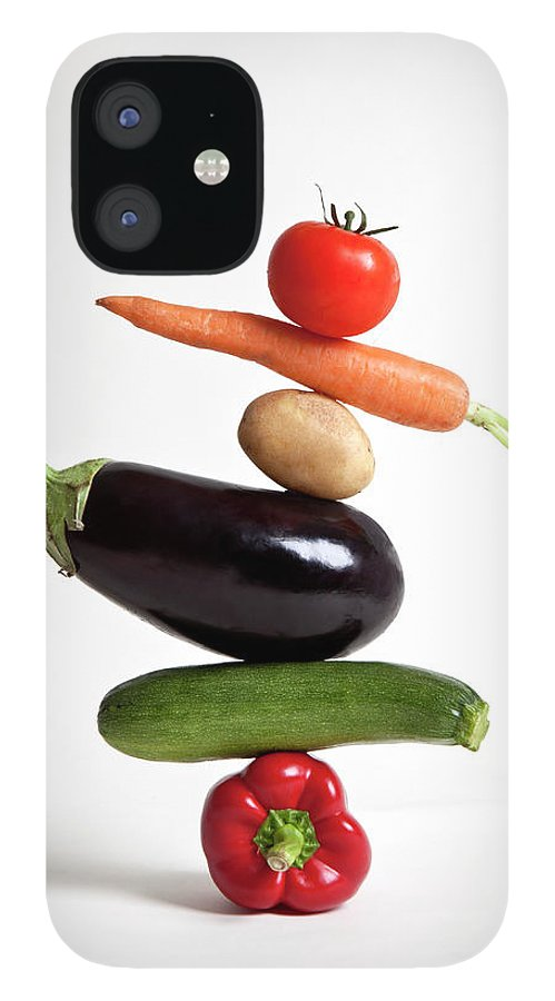 Shadow IPhone 12 Case featuring the photograph Vegetables Arranged In A Stack by Halfdark