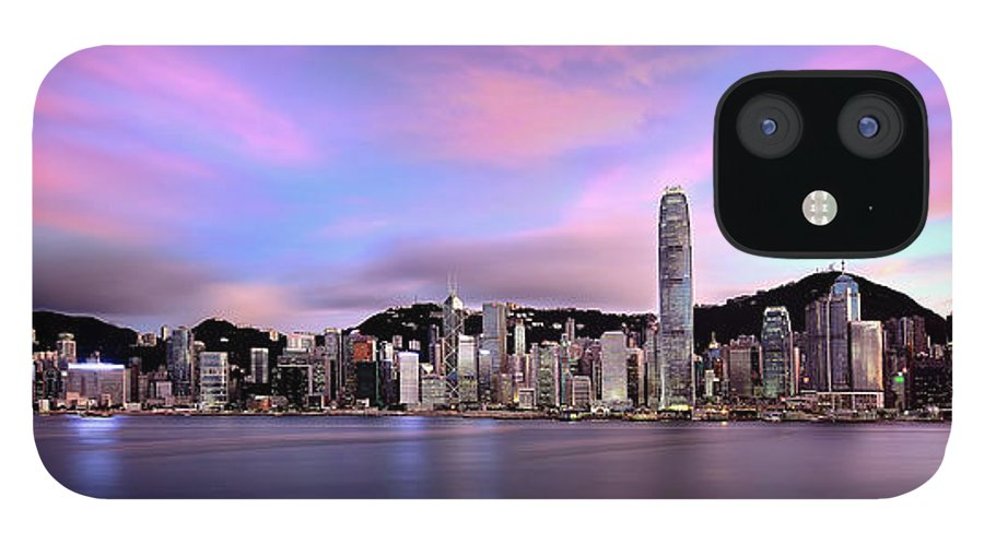 Tranquility IPhone 12 Case featuring the photograph Victoric Harbour, Hong Kong, 2013 by Joe Chen Photography