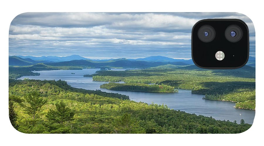 Tranquility IPhone 12 Case featuring the photograph View From Bald Mountain by Barbara Friedman