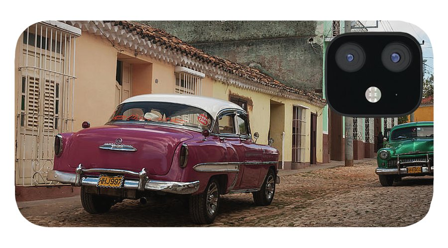 Latin America IPhone 12 Case featuring the photograph Vintage American Cars In Cuba by John Elk Iii