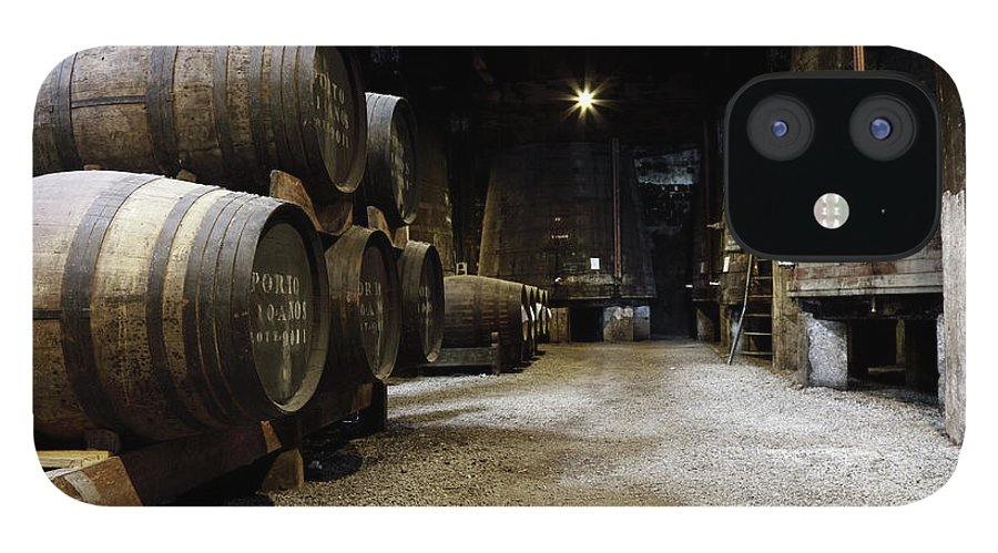 Desaturated IPhone 12 Case featuring the photograph Vintage Porto Wine Cellar by Vuk8691